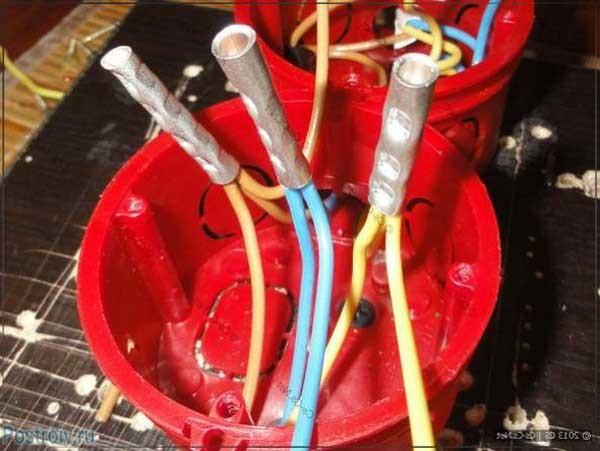 Обжатые провода высокого тока - Фото