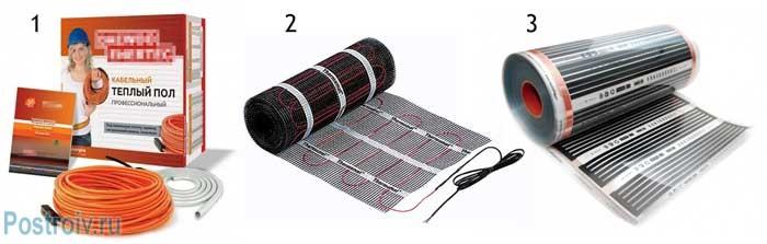 Виды электрических теплых полов: кабельные и инфракрасные - Фото