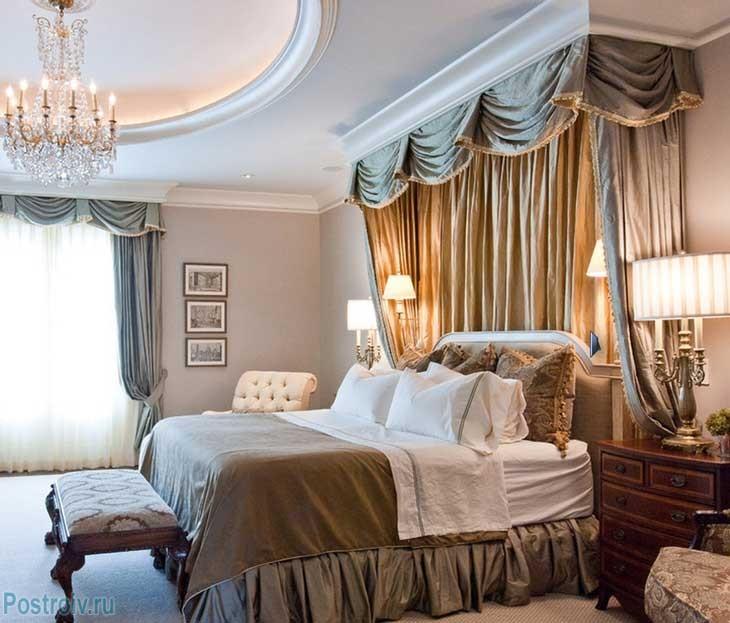 Кровать с балдахином для взрослого человека. Фото