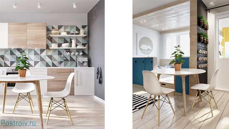 Кухни со столовой дизайн 116