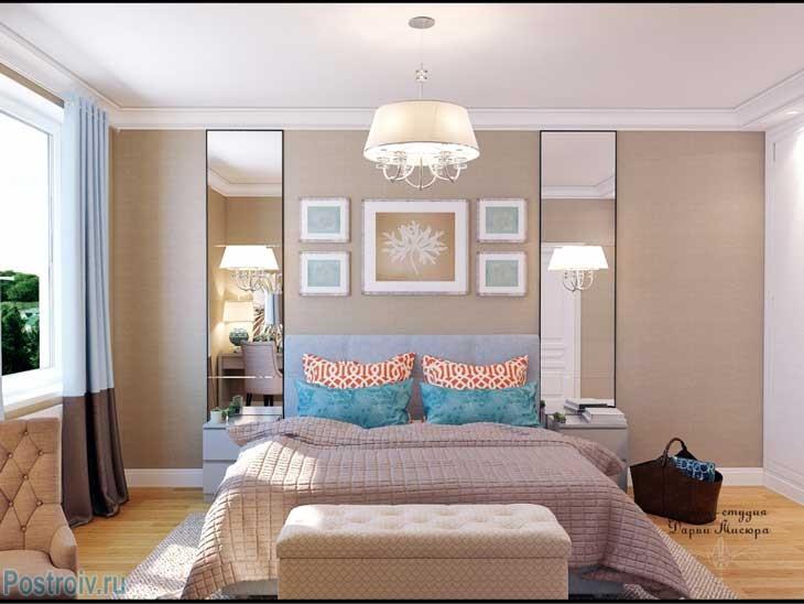 Дизайн спальня гостиная 15 кв.м