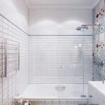Оформление совмещенного санузла с ванной - Фото