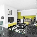 Бюджетное оформление гостиной, совмещенной с кухней - Фото