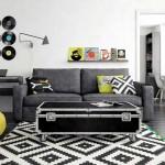 Дизайн стильной современной гостиной в бюджетном исполнении - Фото