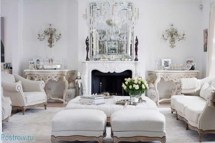 Отделка классического интерьера во французском стиле. Фото