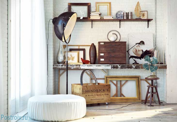 Декорирование квартиры в стиле лофт. Фото