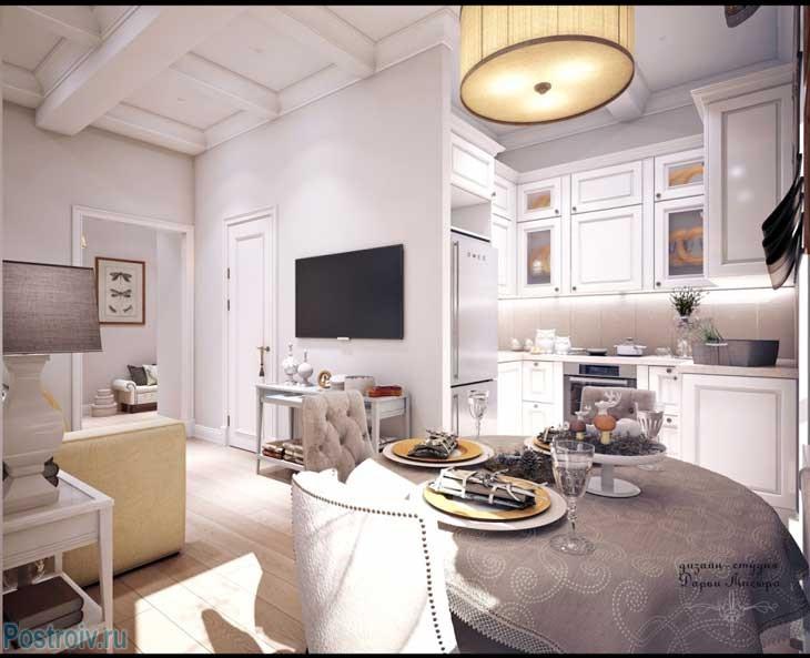 Светлая однокомнатная квартира 45-47 кв. м.