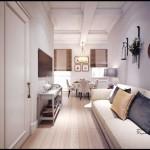 Светлая 1-комнатная квартира в стиле нео классика. Фото