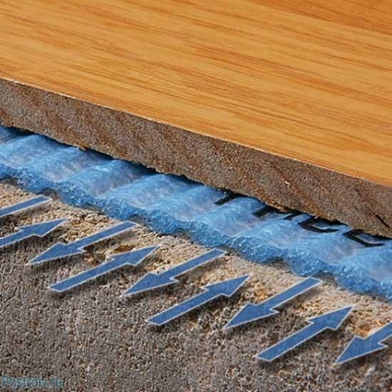 Отличные теплоизоляционные свойства подложки под ламинат