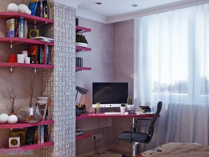 Пример правильной планировки спальня для подростка. Фото