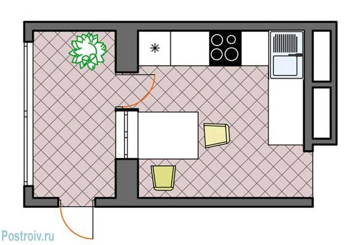 Планировка для кухни в типовом доме. Для хрущевок - Фото
