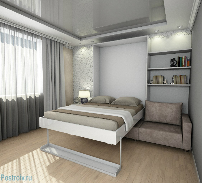 Кровать-трансформер в гостиной - Фото 15