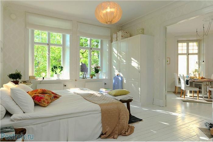 Спальня в скандинавском стиле - Фото 01