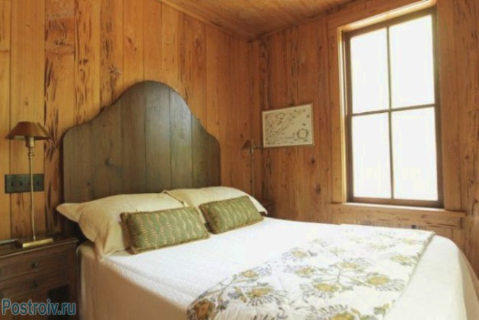 Деревянное изголовье кровати - Фото 05