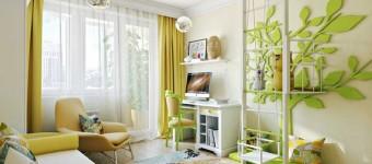 Дизайн детского светлого интерьера. Фото
