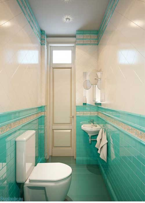 Туалет в английском стиле. Фото