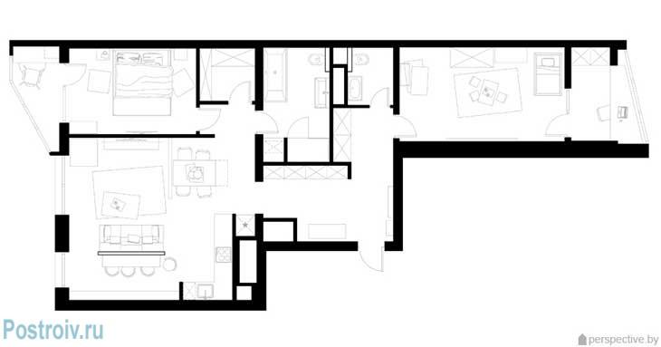 Планировка 3 комнатной квартиры. Фото