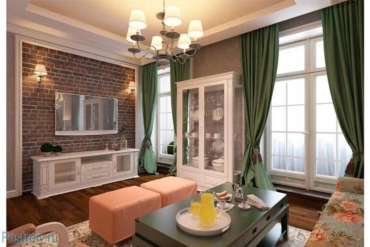 Люстра в английском стиле отлично сочетается со всеми деталями в гостиной. Фото