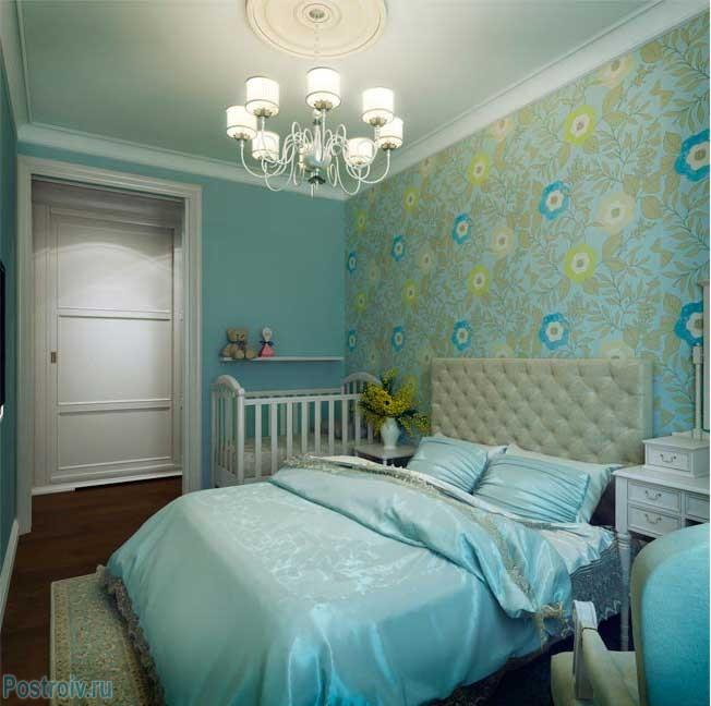 Яркие элементы английского стиля в спальне. Фото