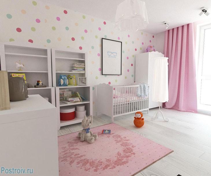 Розовая спальня для ребенка. Фото