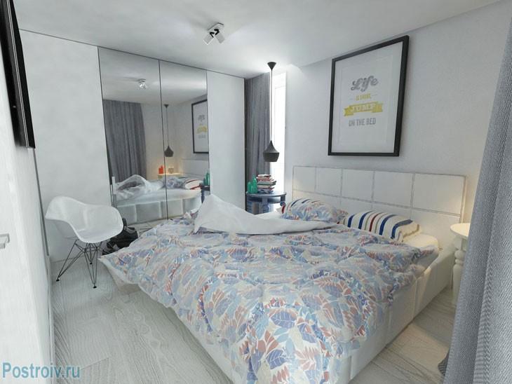 Спальня для молодой пары. Белая спальня. Фото