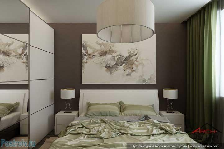 Красивый и недорогой интерьер спальни в панельном доме. Фото