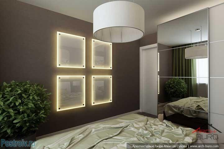 Настенные квадратные светильники. Фото