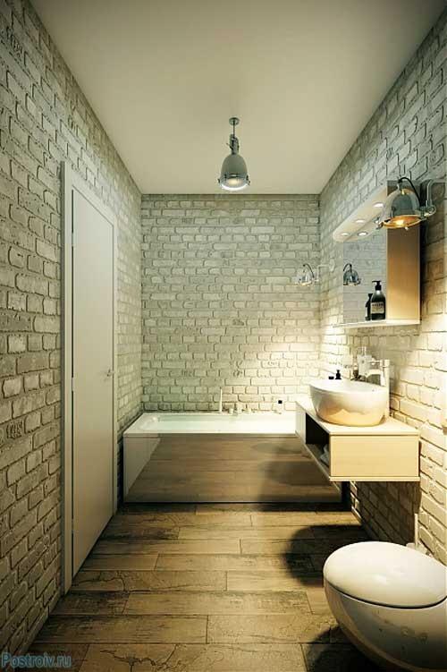 Ванная комната в стиле лофт. Фото