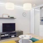 Модульная ТВ тумба. Отличный вариант для маленькой квартиры. Фото