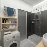Стиральная машина в ванной. Фото