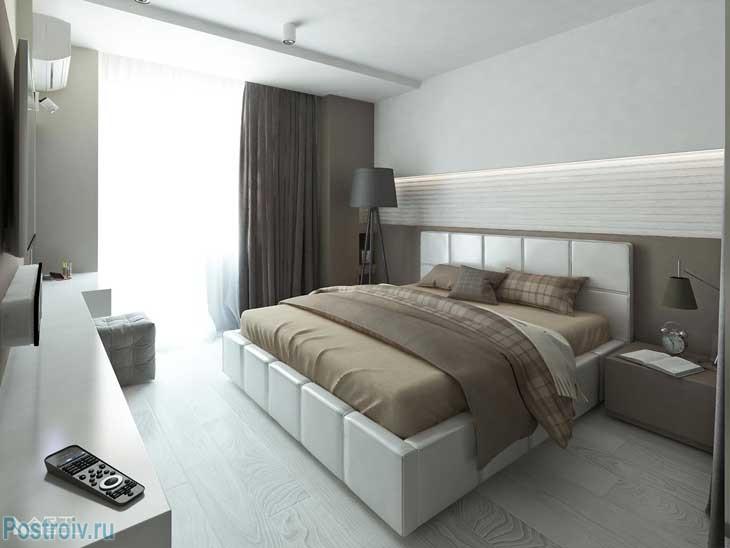 Сочетание цветов в современной спальне. Фото