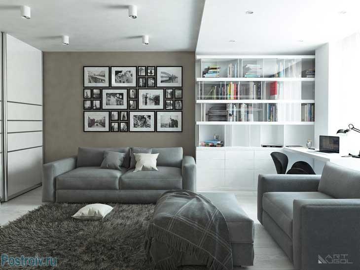 Декорирование стены фотографиями. Фото