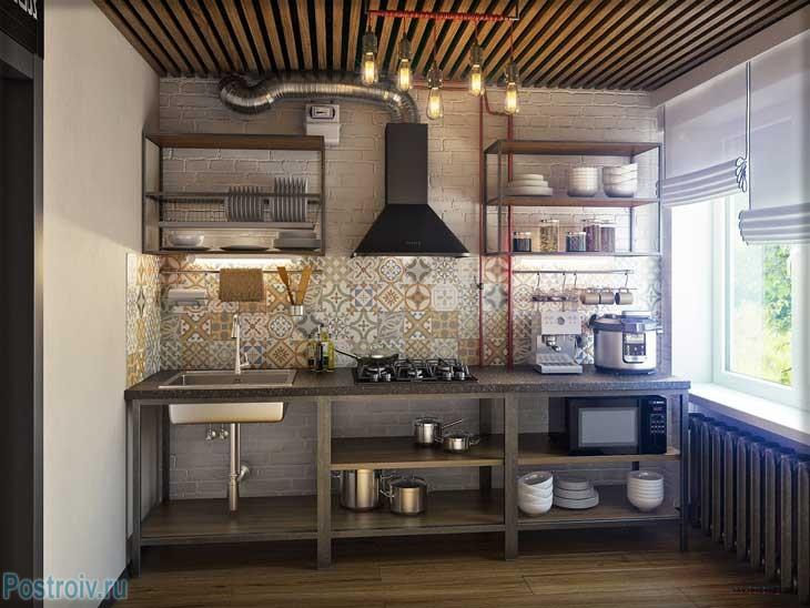 Урбанистический стиль кухни. Элементы хай-тек - Фото