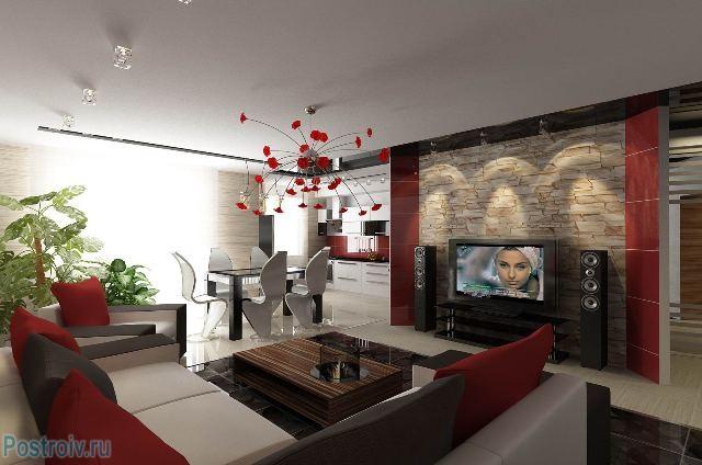 Дизайн интерьера гостиной - Фото 02
