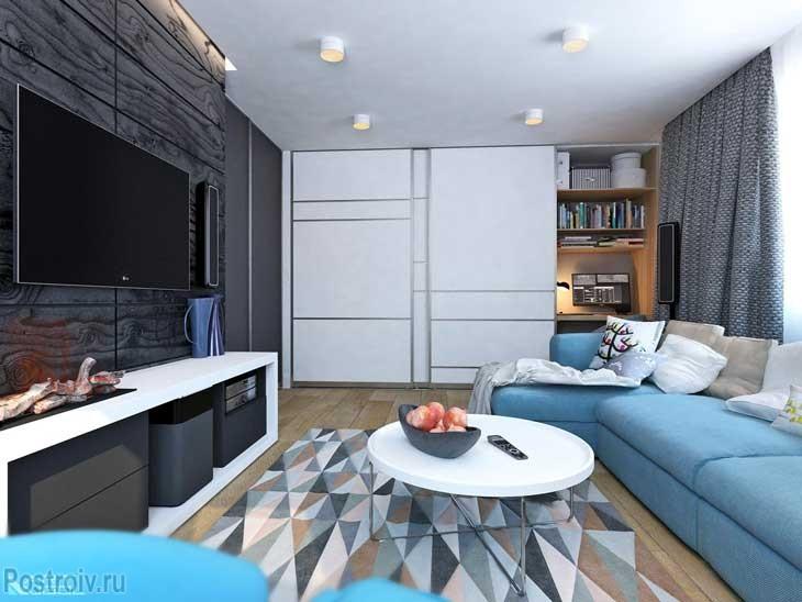 Современные цвета в гостиной. Фото