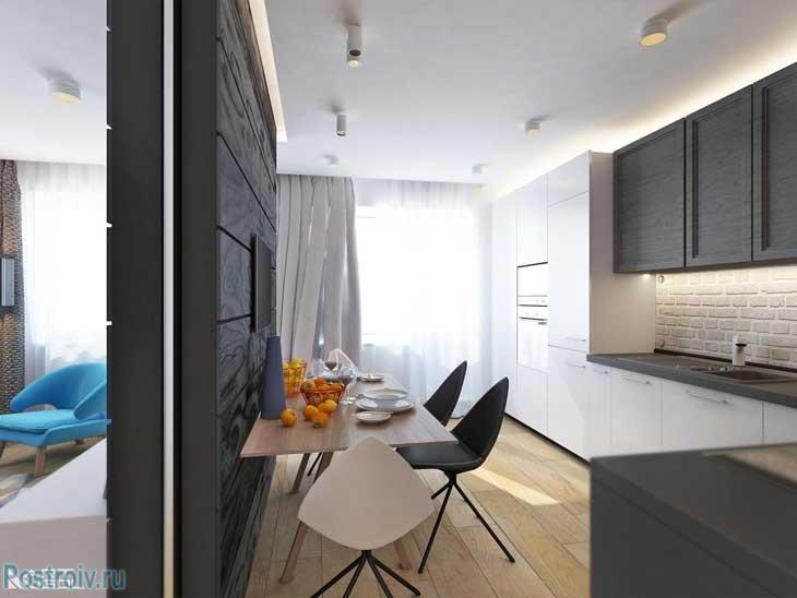 Дизайн 2 комнатной квартиры для девушки в современном стиле. Фото