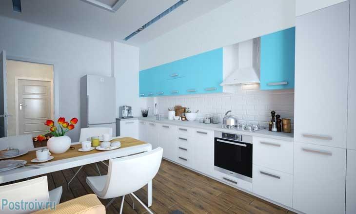 Кухня в морском стиле. Фото