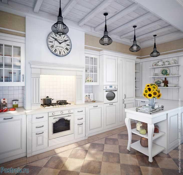 Кухня в стиле прованс от Евгения Жданова. Фото