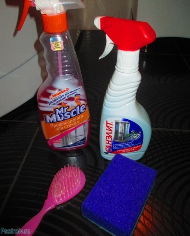 Средства для уборки в душевой - Фото 02
