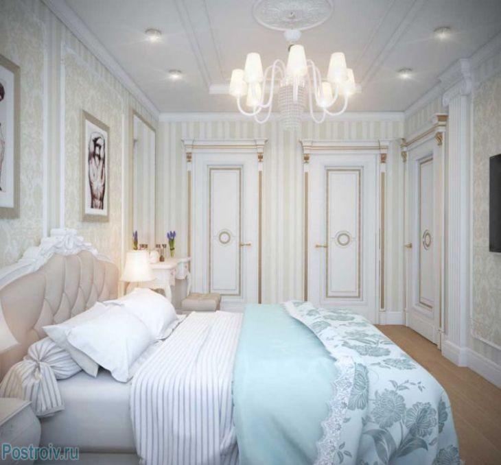 Красивая спальня в классическом стиле. Фото