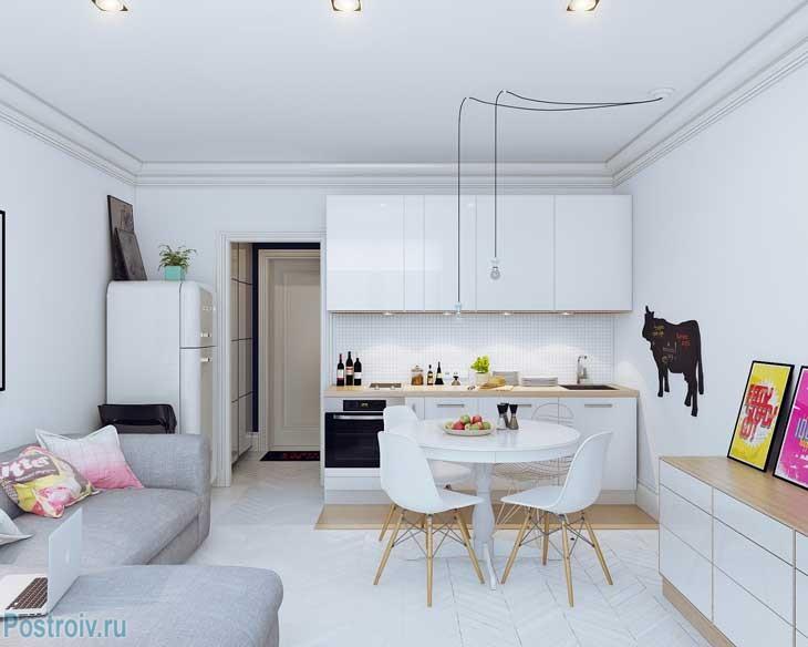 Квартира 25 кв. м. в скандинавском стиле. Фото