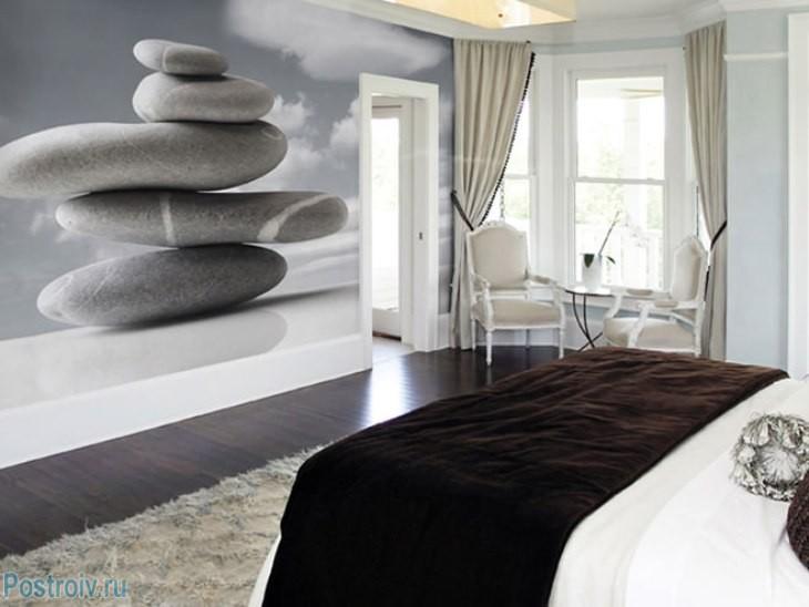 Фотообои в интерьере спальни фото