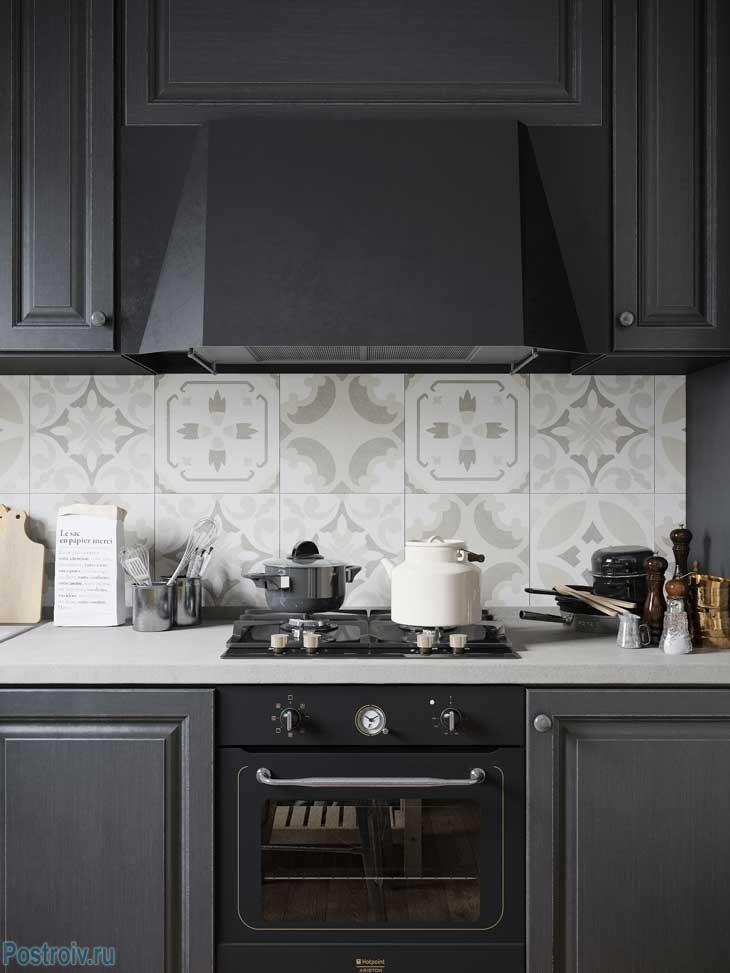 Индустриальный стиль на кухне. Фото