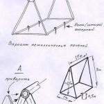 Схема металлических качелей