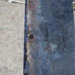 Просверливаем отверстия диаметром 13 мм
