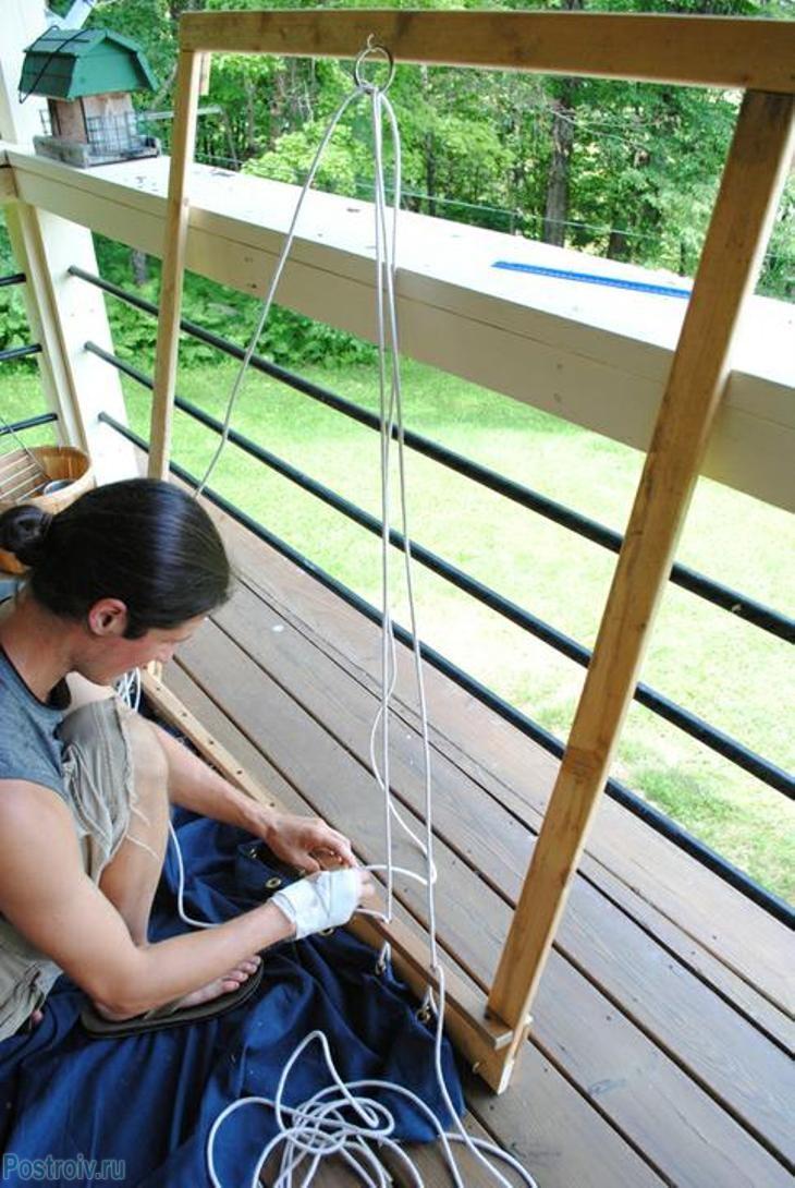 схема плетения гамака своими руками
