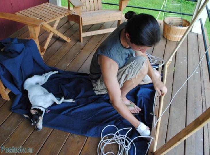 Устанавливаем стропы гамака - Фото 55