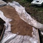 Разравнивание песчанной подушки