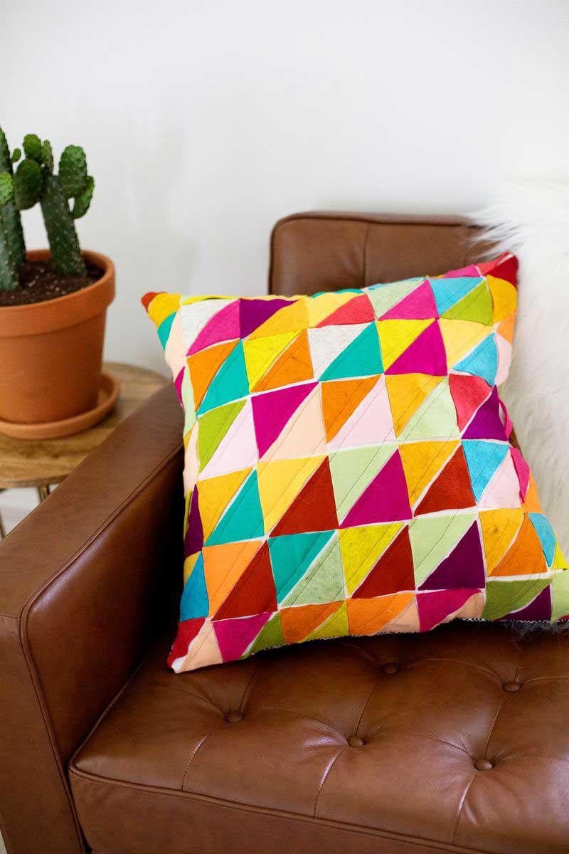 Как сшить диванную подушку пошагово