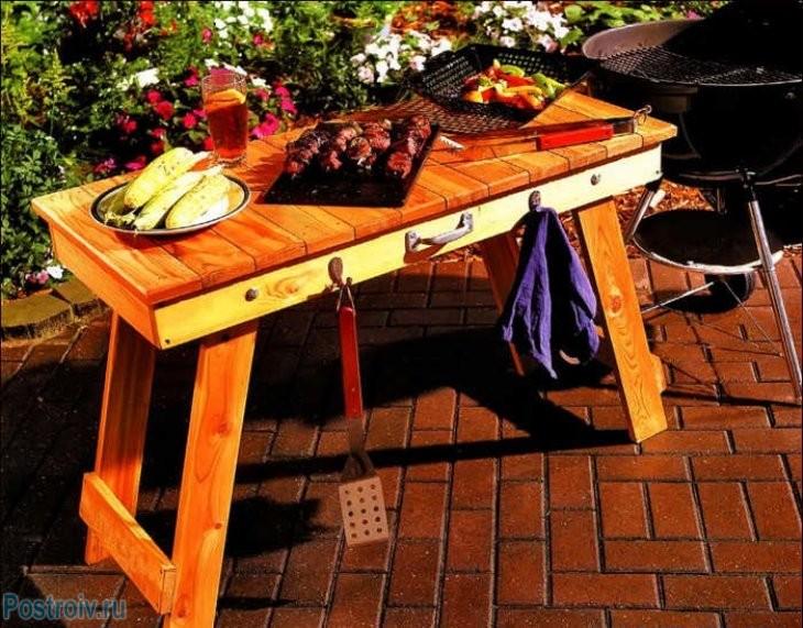 Сделать столик на природу своими руками 56